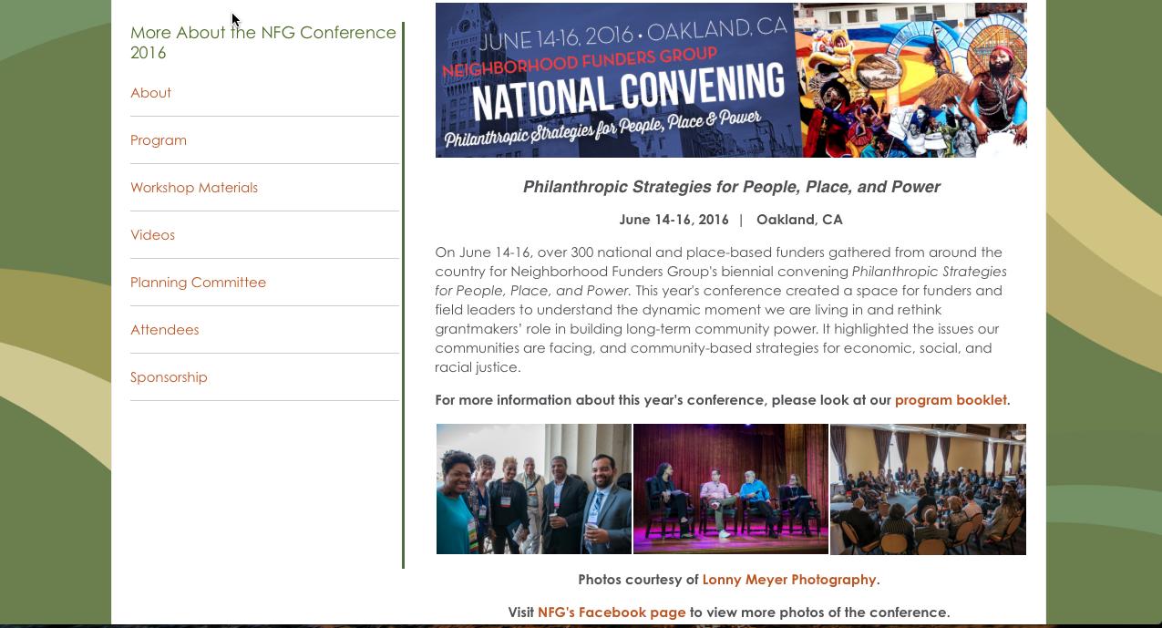 Neighborhood Funders Group NFG.org