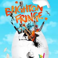 Graphic of egg bursting open for Brighton Fringe
