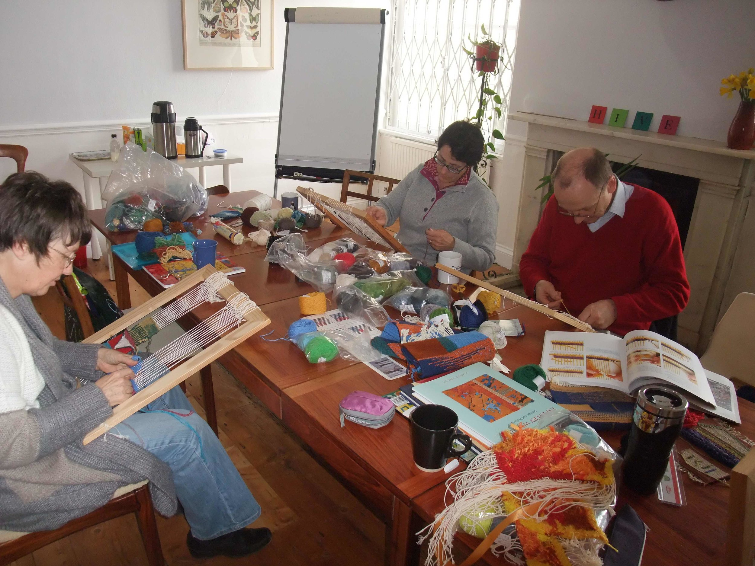 Tapestry class taught by Jackie Bennett