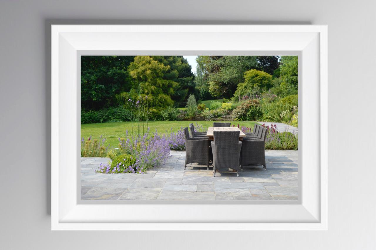 Photograph of a garden designed by Bo Cook Studios