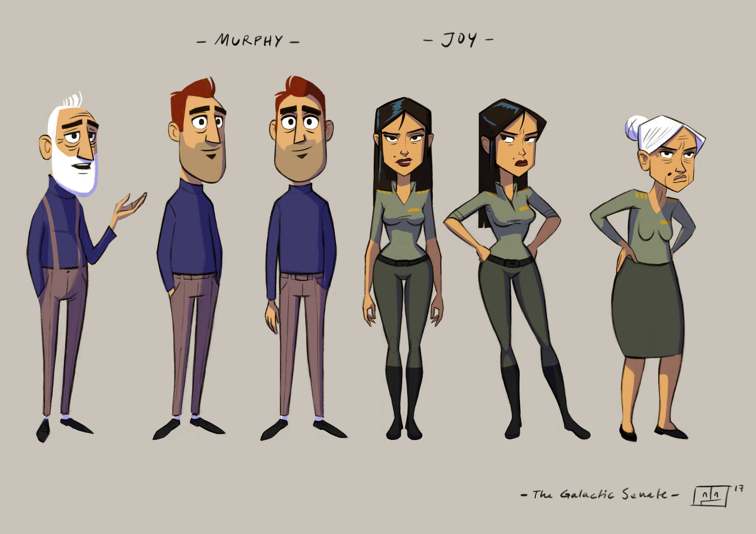 Concept Design - Main Characters