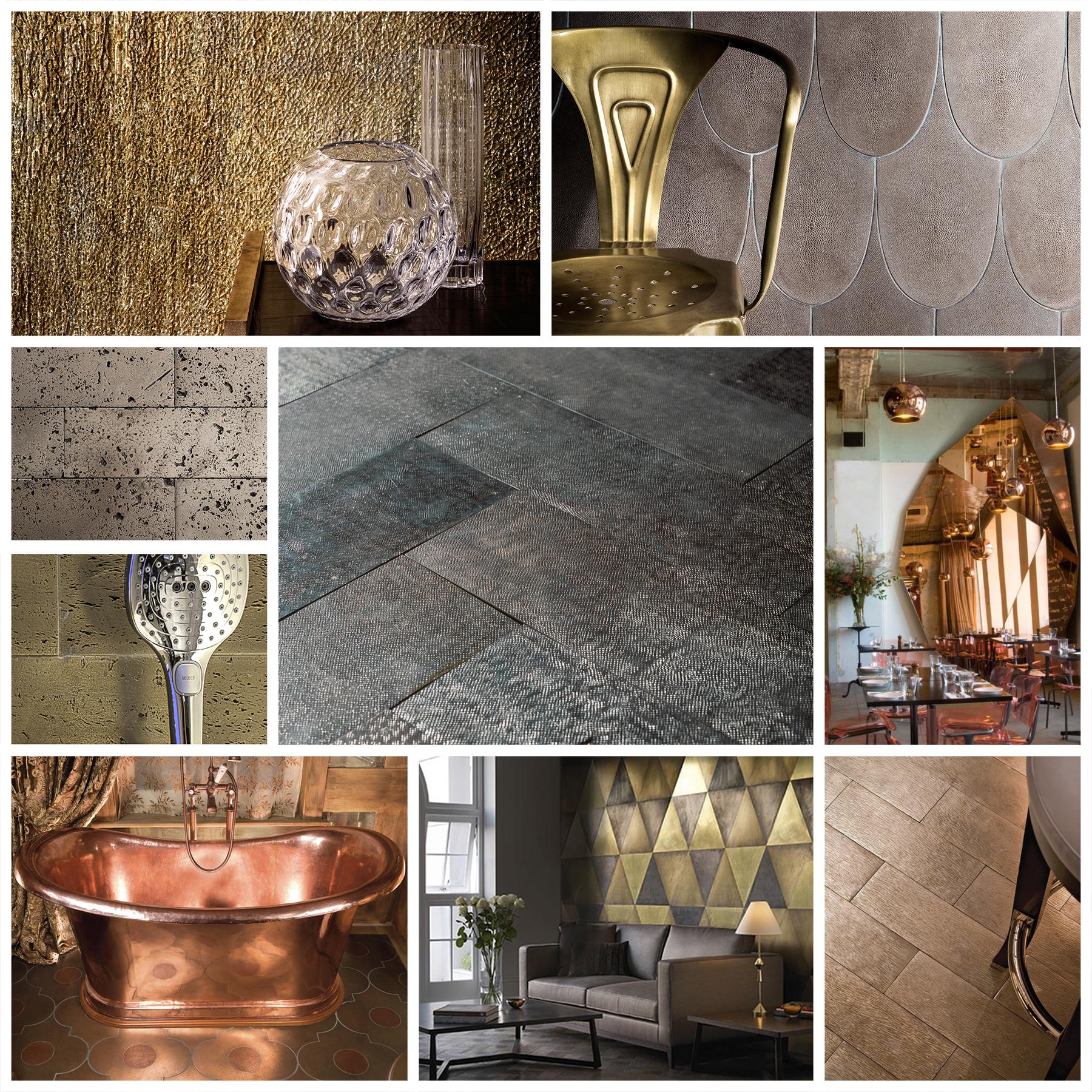 Metallic Interior Design Trends 2016
