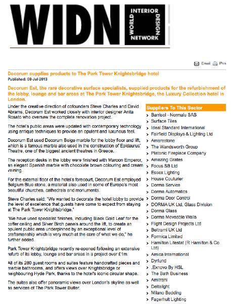 Decorum Est - WIDN July 2013
