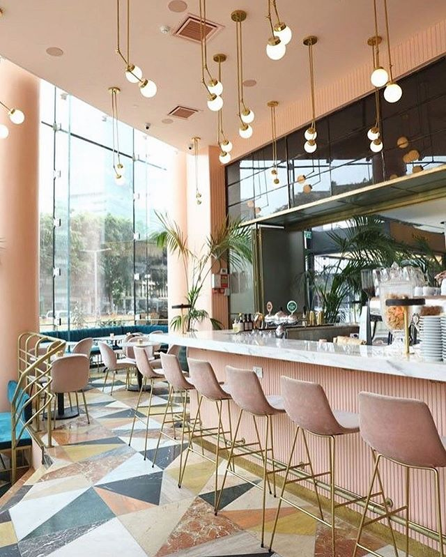 This week's inspiration is this dream restaurant in Tel Viv and its beautiful and colourful tiles mixed with golden accents. #ExtraordinarySurfaces #Inspiration