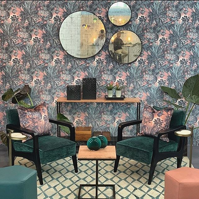 Last day at @decorex_international collaborating with @casabotelho. Come visit us at Stand P242A, first floor at Olympia London! #decorex2019