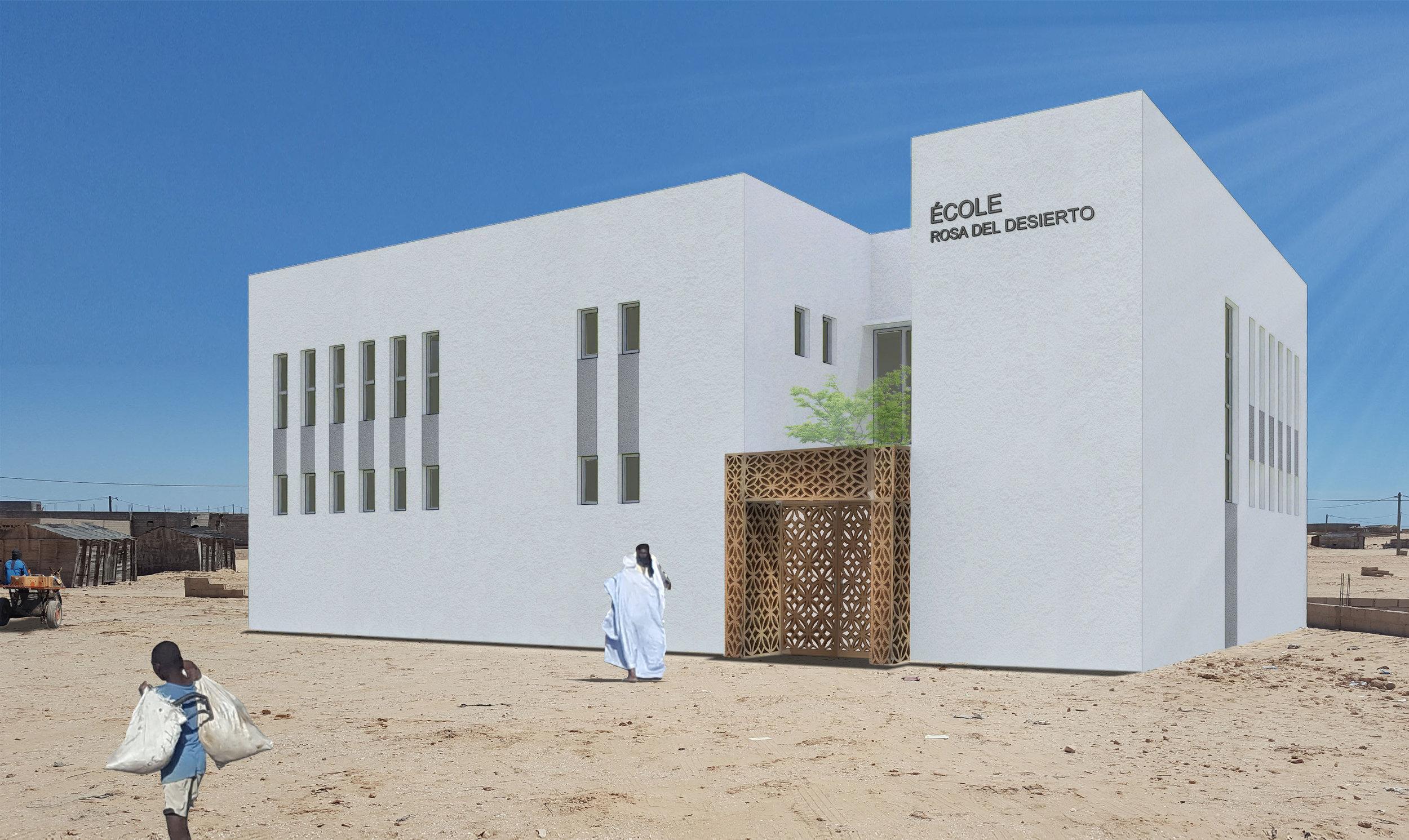 Escuela para la ONG Rosa del Desierto - Nouadhibou, Mauritania (2018)