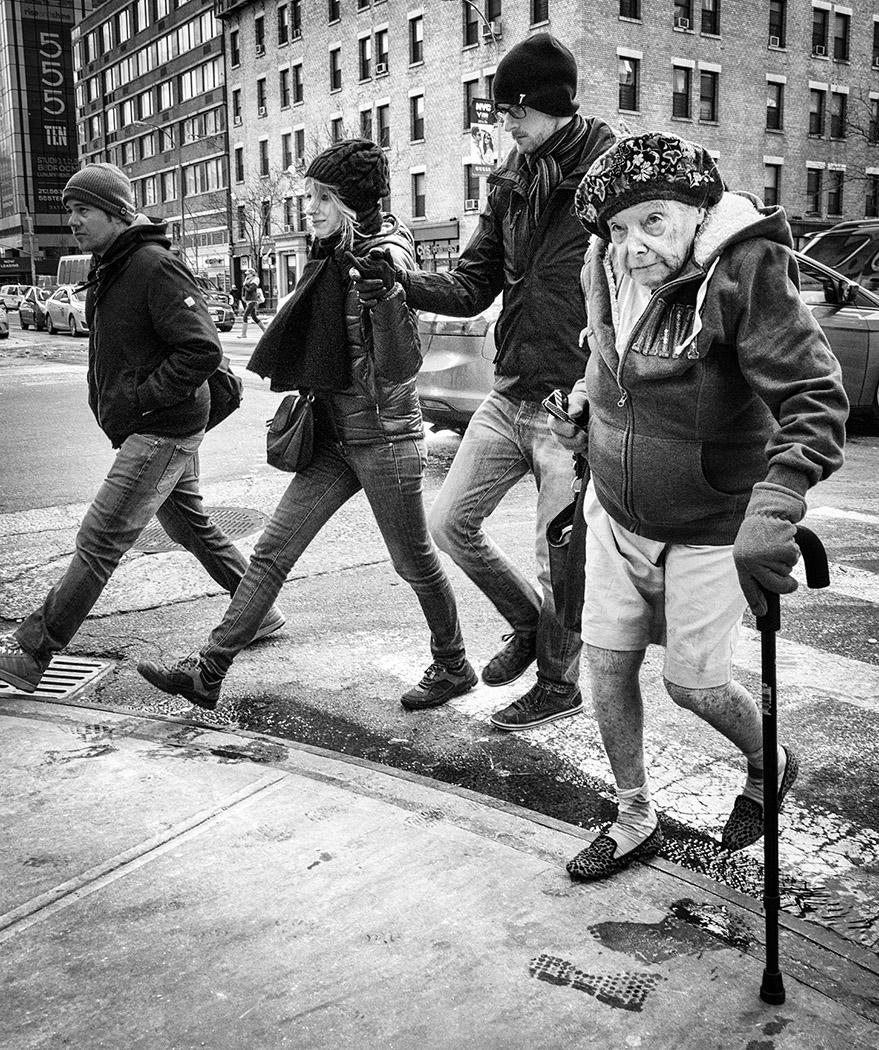 Old New Yorker by Viv Blewett  Winner Jean Farrall Trophy for Street Photography - Prints