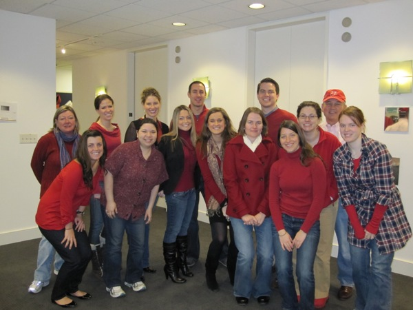 The Cone team goes red for National Wear Red Day 2010