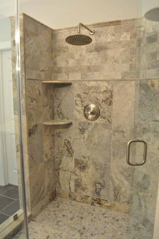 Grey Travertine Bathroom Dmc Homes