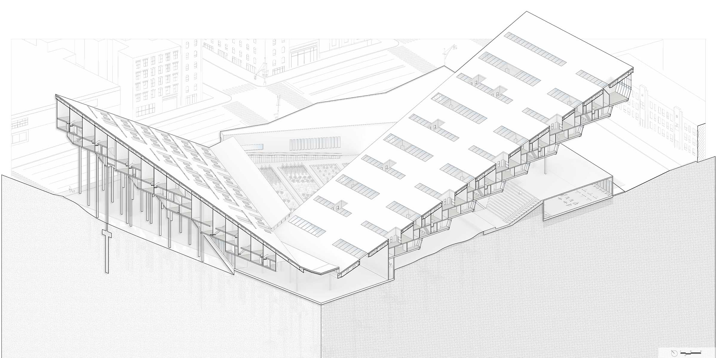 Projected Living - GSAPP Core III Studio - Housing - Bronx, NYcurating visual queues in urban housing forms2018