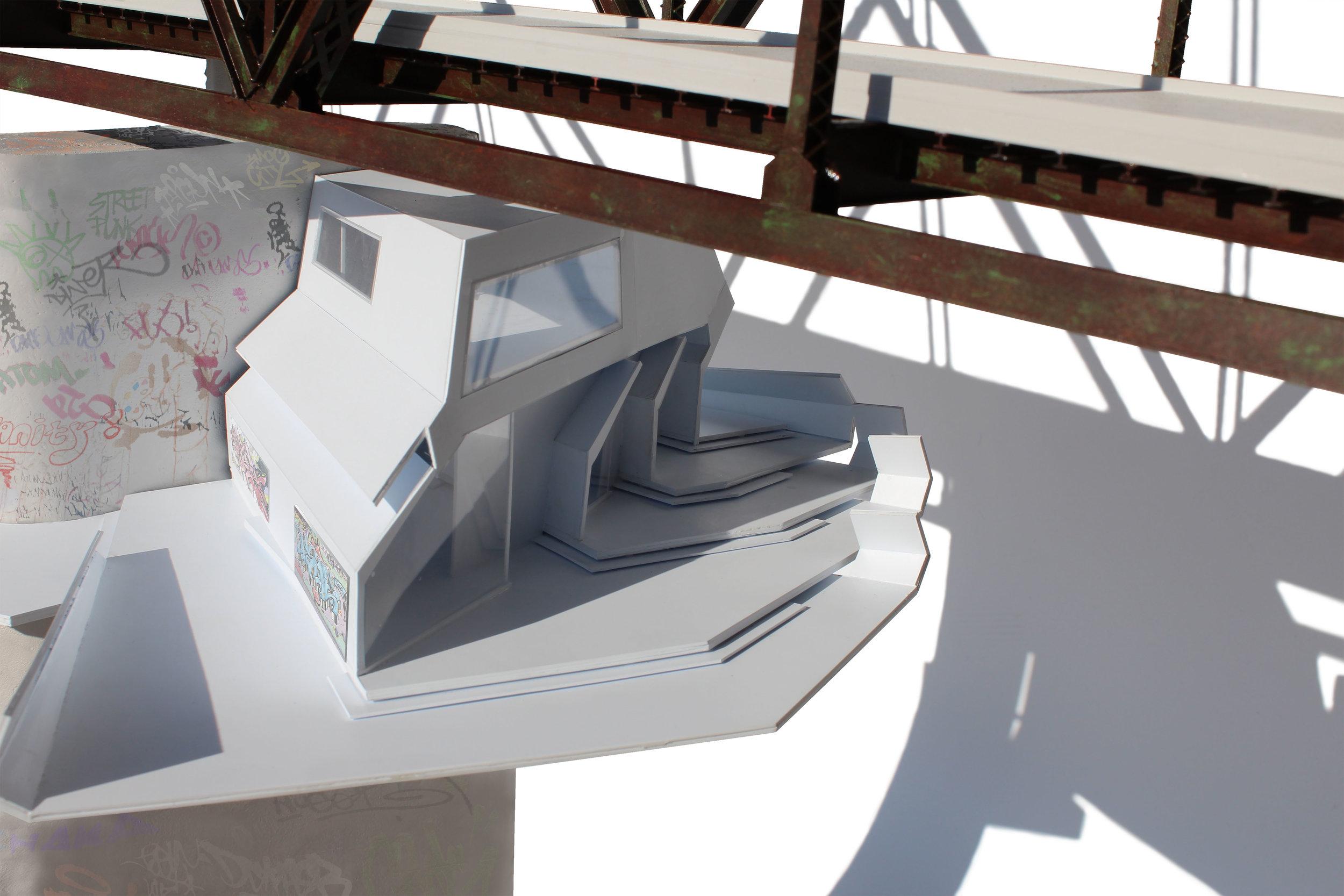 Graffiti House - WashU Adv. Studio I - Observatory - Chain of Rocks Bridge, MOcurating art + residency2015