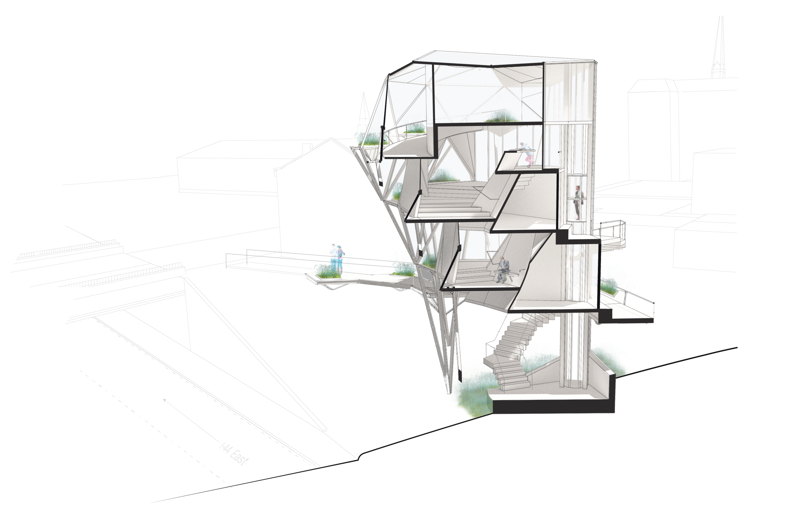 Vertical Greenhouse - WashU Core Studio III - Greenhouse - Soulard, St. Louis, MOpreserving urban ecology2015