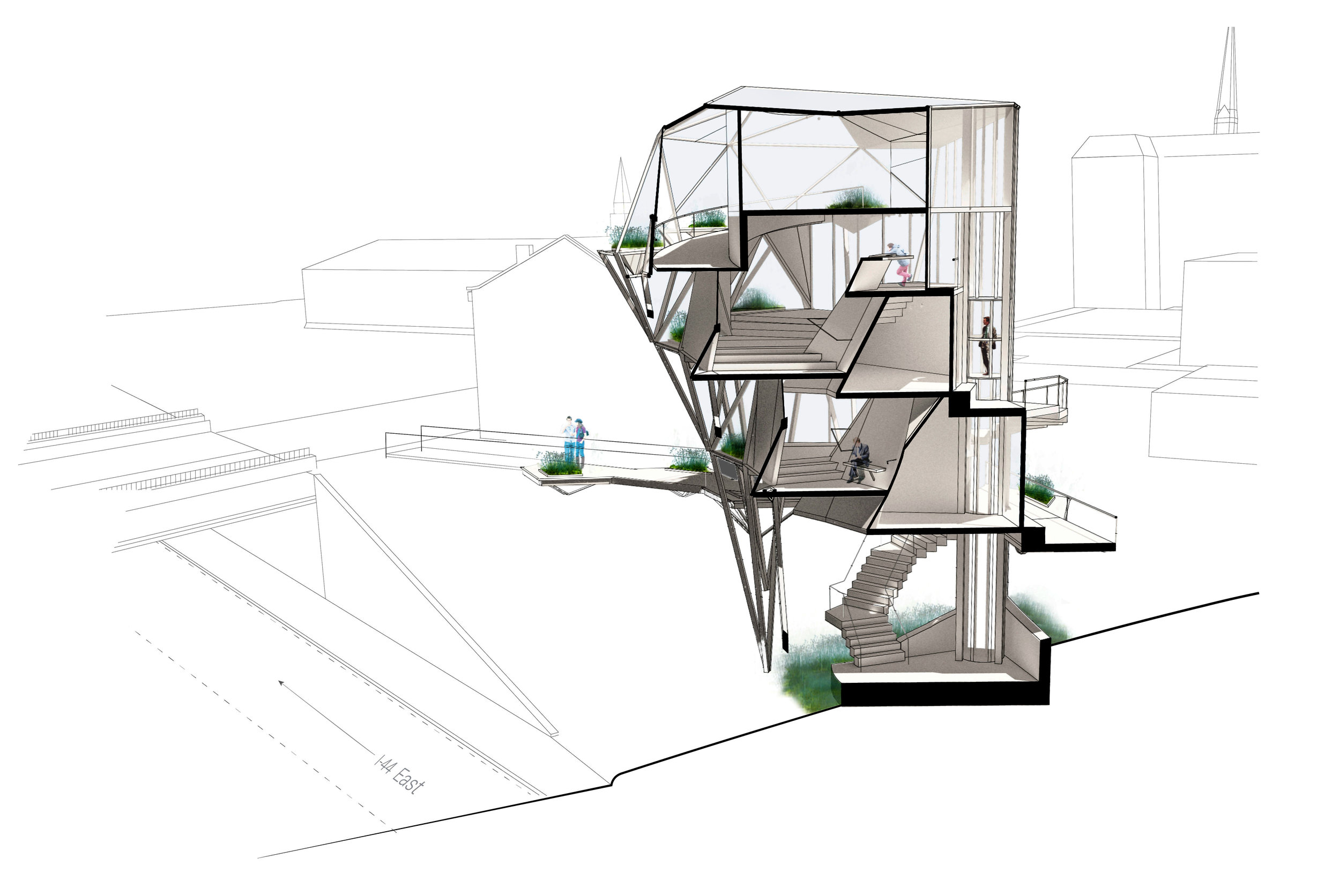 Vertical Greenhouse - WashU Core Studio III - Greenhouse - Soulard, St. Louis, MOpreserving urban ecology2015