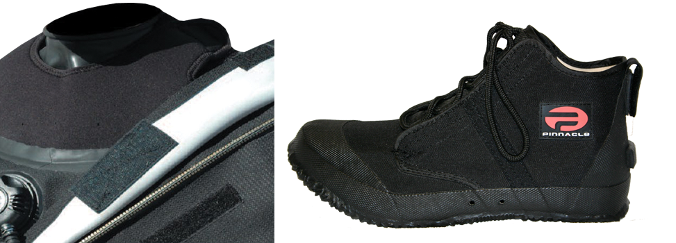 1. YKK zipper is fitted with protective zipper flap to ensure long zipper life and smoother operation 2. Drysuit Overboots constructed with heavy duty canvas