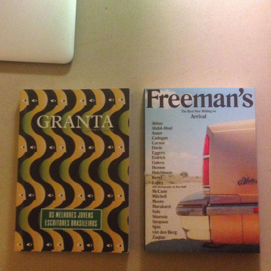 Just arrived in #NYC and getting ready for #freemansjournal launch with @freemanreads who says he sees a @saluspace design style #Granta #magazinecover  (at New York, New York)