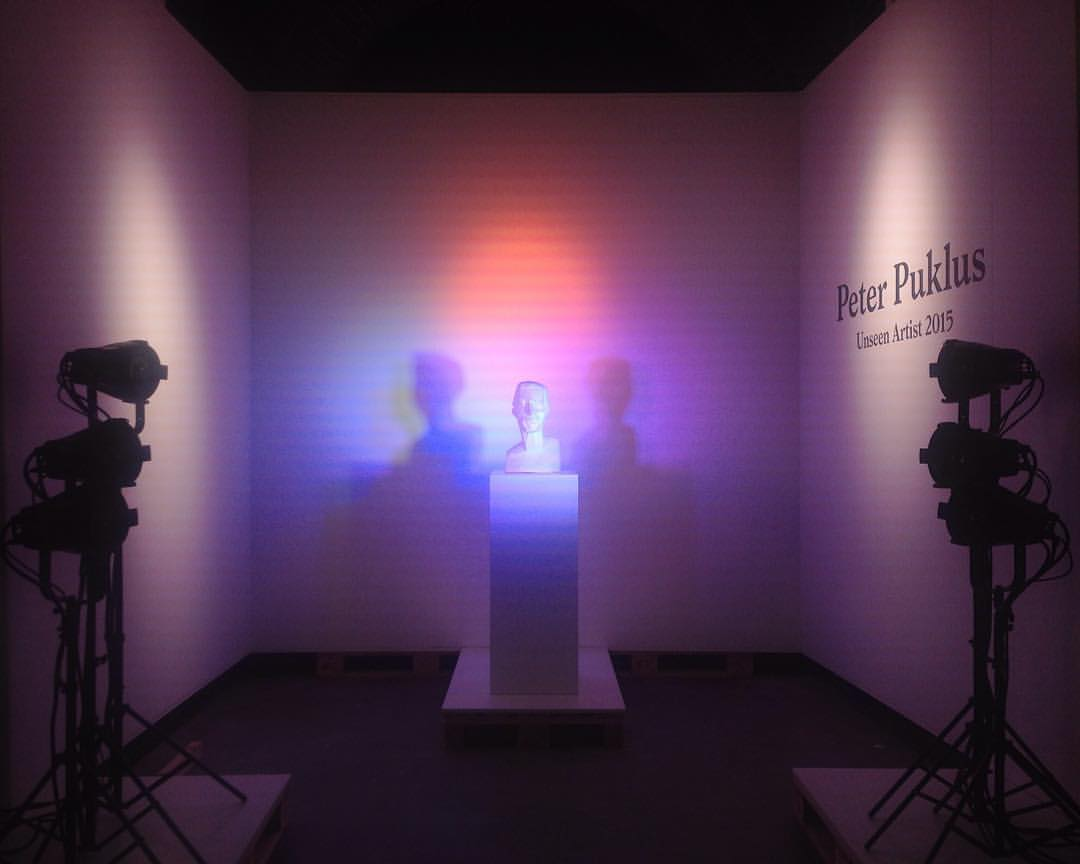 Peter Puklus @unseenphotofair my interview with him is up on @americansuburbx #UnseenASX #associativethinking #algorithm #tags #sculpture #unseenamsterdam  (at Unseen Photo Fair & Festival)