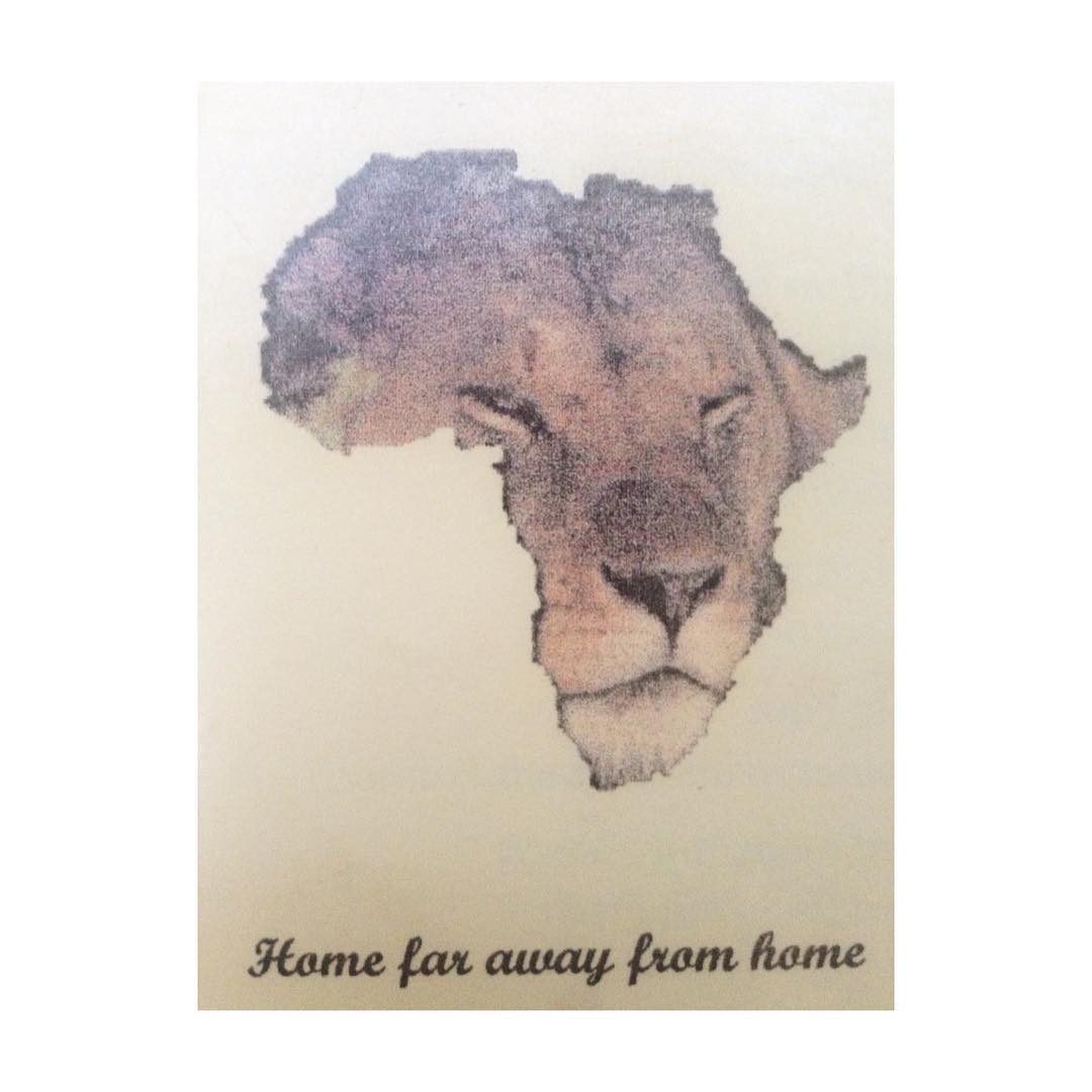 From #colonial exploits to reclamation to appropriation, the African continent as #graphic device is as broadly overused as the continent itself and never done well. Somehow here at an #African restaurant in #berlin it seems to work. #graphicdesign #cecil the #lion