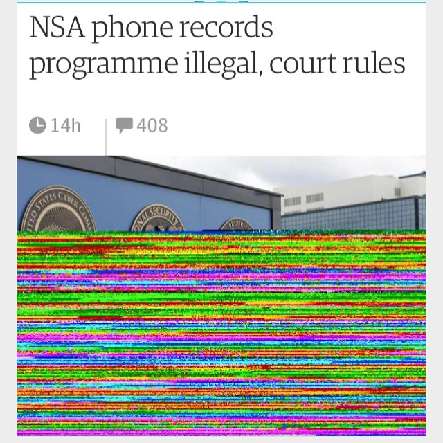 Interesting choice of image for an international newspaper #glitch #guardian #nsa