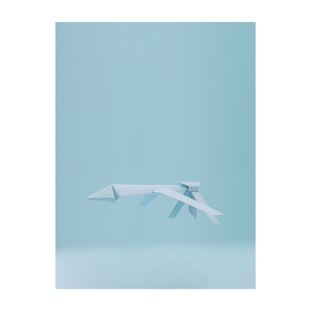 A paper drone we created with photographer Bruno Drummond in 2013 as part of a comment about the never ending nature of modern #war and our #consumption of it. #paperplanes #drone #drones #dronewarfare #videogames #setdesign #artdirection #art #sculpture #papermodel #papersculpture #mediawar #cyberwar #graphicdesign #flight #dronecontrol #saluspace #blue (at Berlin, Germany)