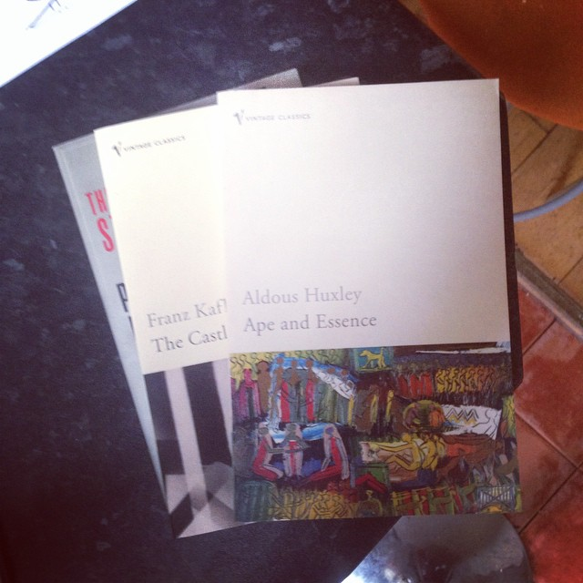 Rooting through the archive. so much literature of the meta-muscular variety. #roth #kafka #huxley