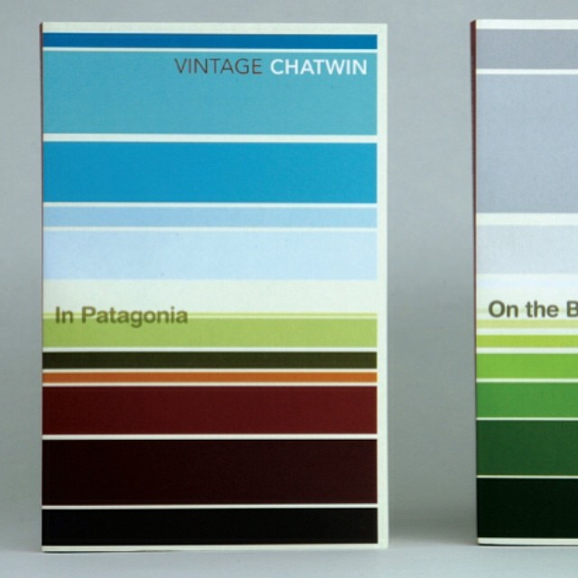 In #Patagonia from our #abstract #landscape series for #travel #writer #Bruce Chatwin in 2008. We wanted to see how much landscape and #narrative we could convey with the simplest #graphic elements. #books #booklover #vector #geometry #colour #colours #argentina #pampas #horizon #sky #land #blue #green #graphicdesign #bookdesign #SALUarchive