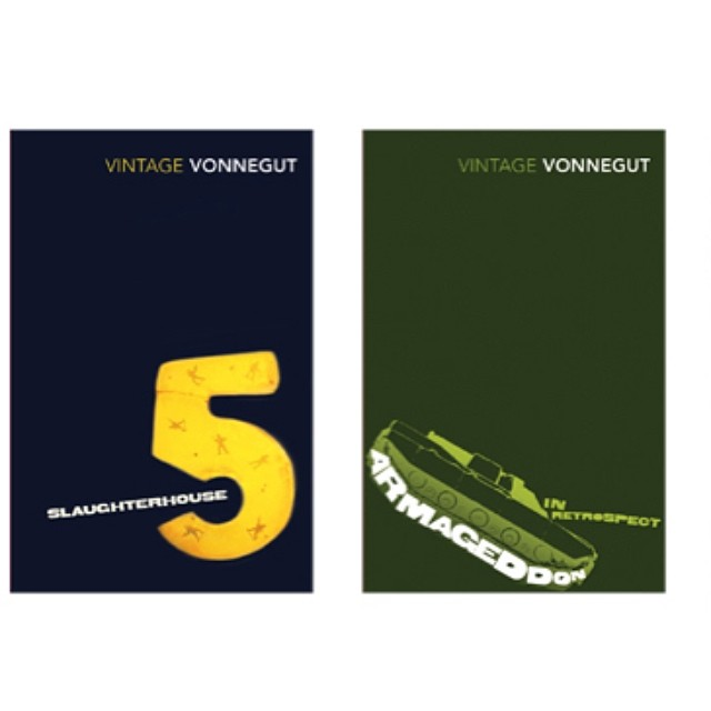 #SoItGoes #slaughterhouse5 & #Armageddon in retrospect from our series #designs for Kurt #Vonnegut in 2008. Each one had a slightly different approach, but linked by a subversion echoing Vonneguts #writing #KurtVonnegut #bookworm #booklover #fiction #novel #books #graphicdesign #graphicart #branding #typography #tank #yellow #honey #soldiers #colours #space #time #war #SALUarchive