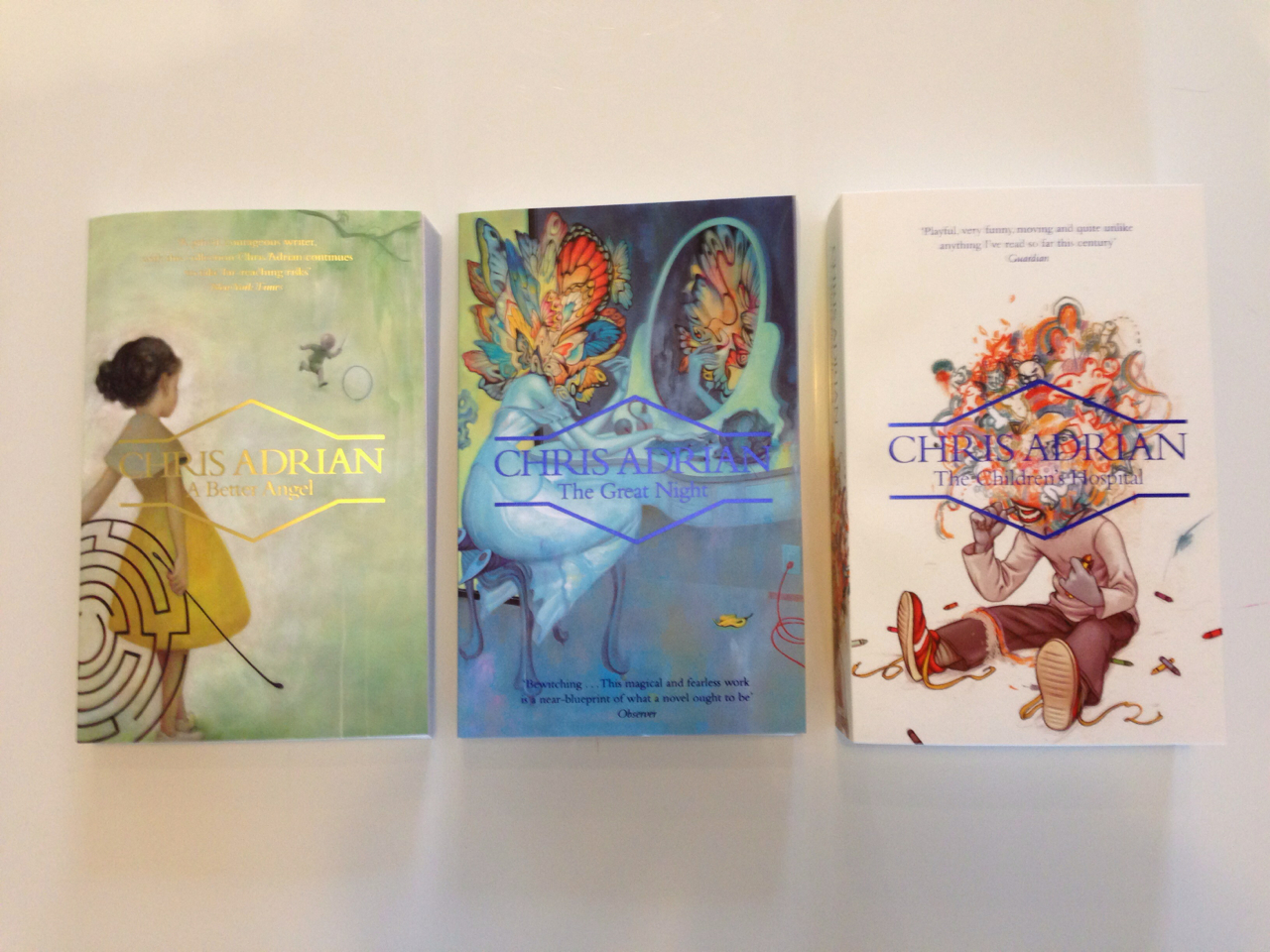 Our paperback collaboration for #ChrisAdrian with @JamesJeanArt. Design by Michael Salu.