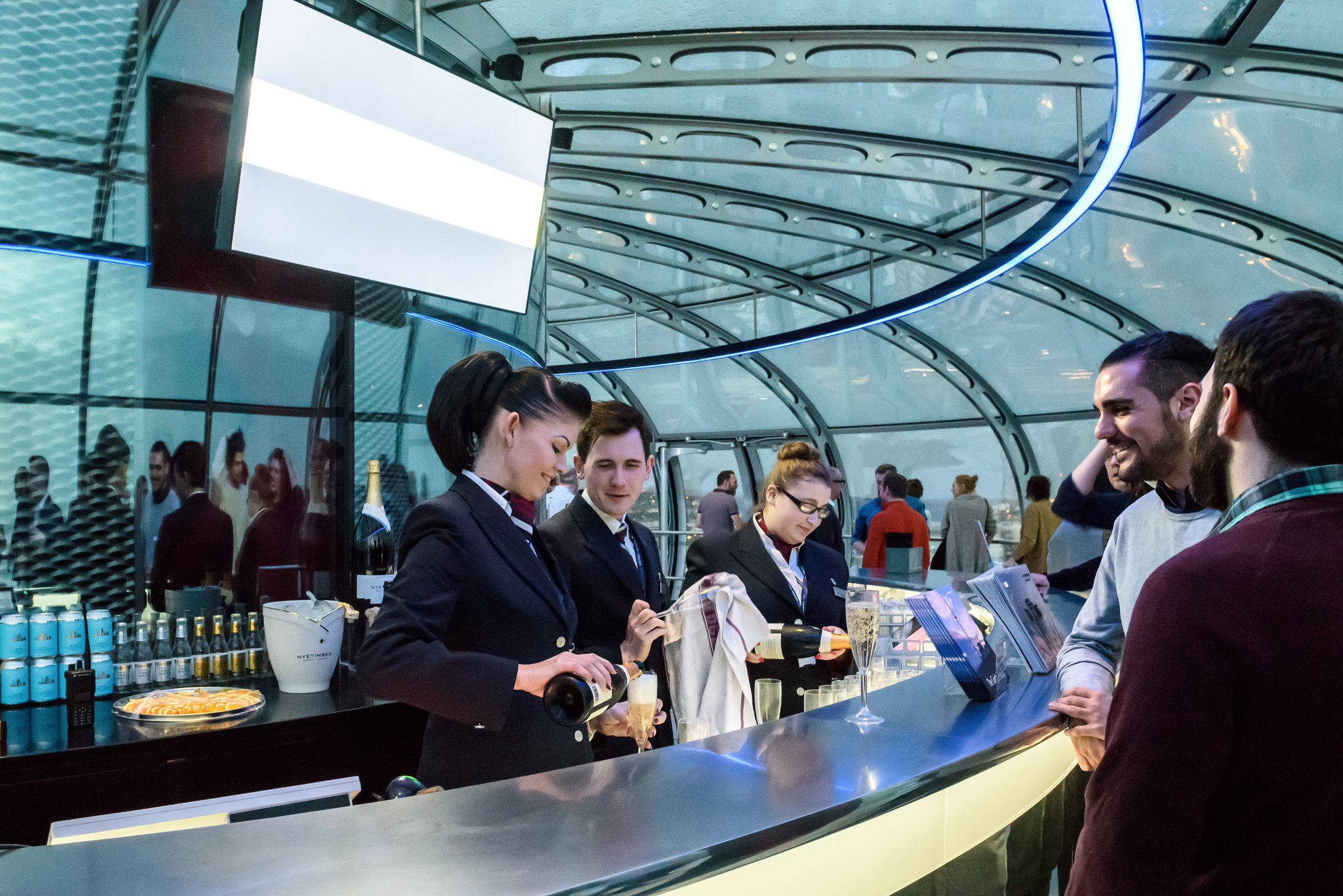 Taking over the British Airways i360 in Brighton for Makemedia's 10th Birthday Party