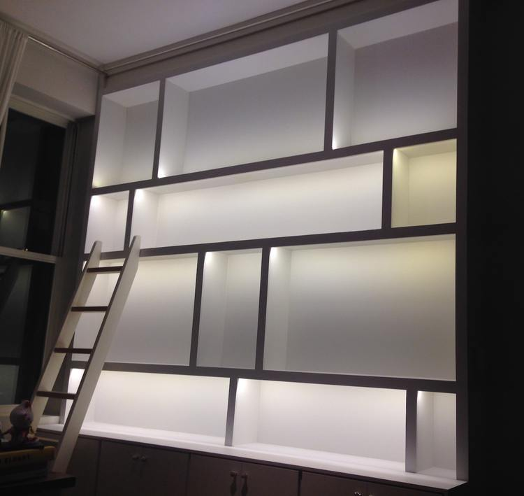 TriBeCa Bookcase, Illuminated