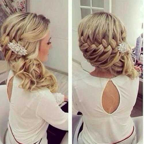 Braids are still a hot trend to wear. Sweep it off to the side for a unique look.