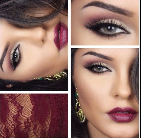 Are you wearing a bold party dress? Sass up your makeup with this daring but pretty look. Pair a beautiful berry lip with a smokey eye for an extreme makeup transformation. Warning...your friends might not recognize, but love it!!