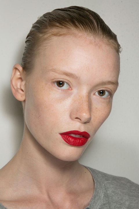 Pair a bold lip with natural makeup to make a clean statement.