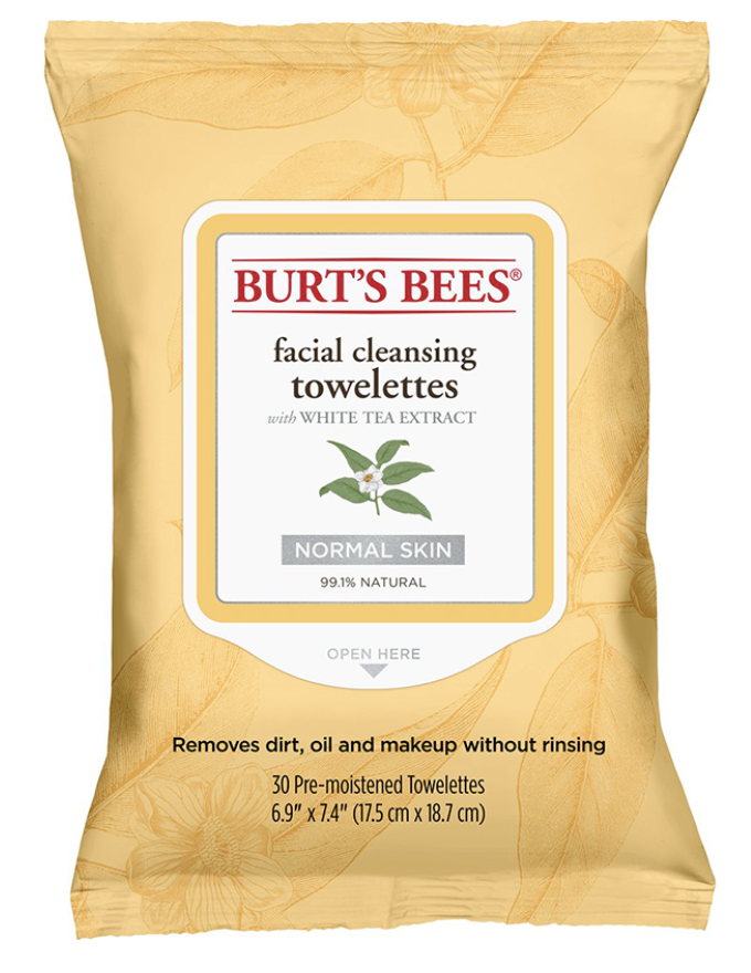 Cleansing wipes - A quicker wash for your face and the towelettes clean your face way better than just splashing cold water as soap on your face.