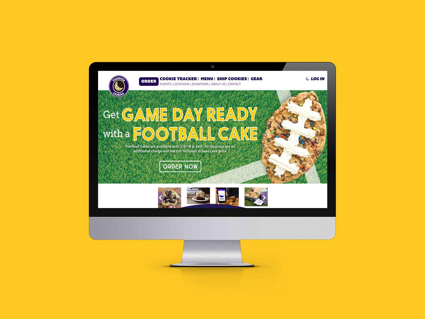 Football Cakes Relaunch website slider