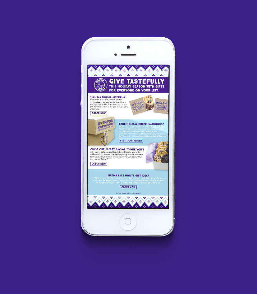 Mobile holiday landing page