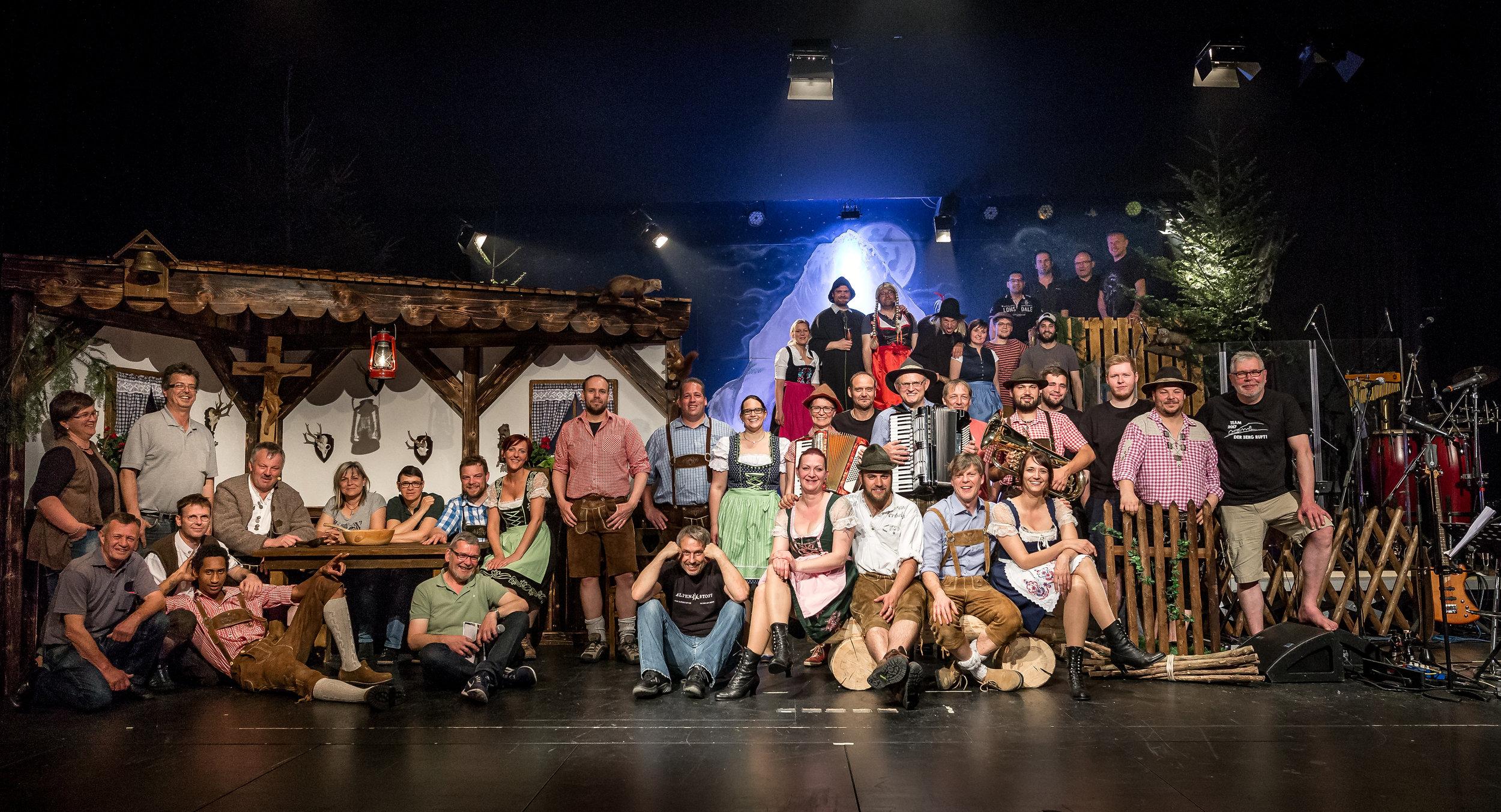 """Das Team """"Der Watzmann Ruft 2018"""" – viele verschiedene Talente waren nötig, um dieses Projekt in die Tat umzusetzen."""