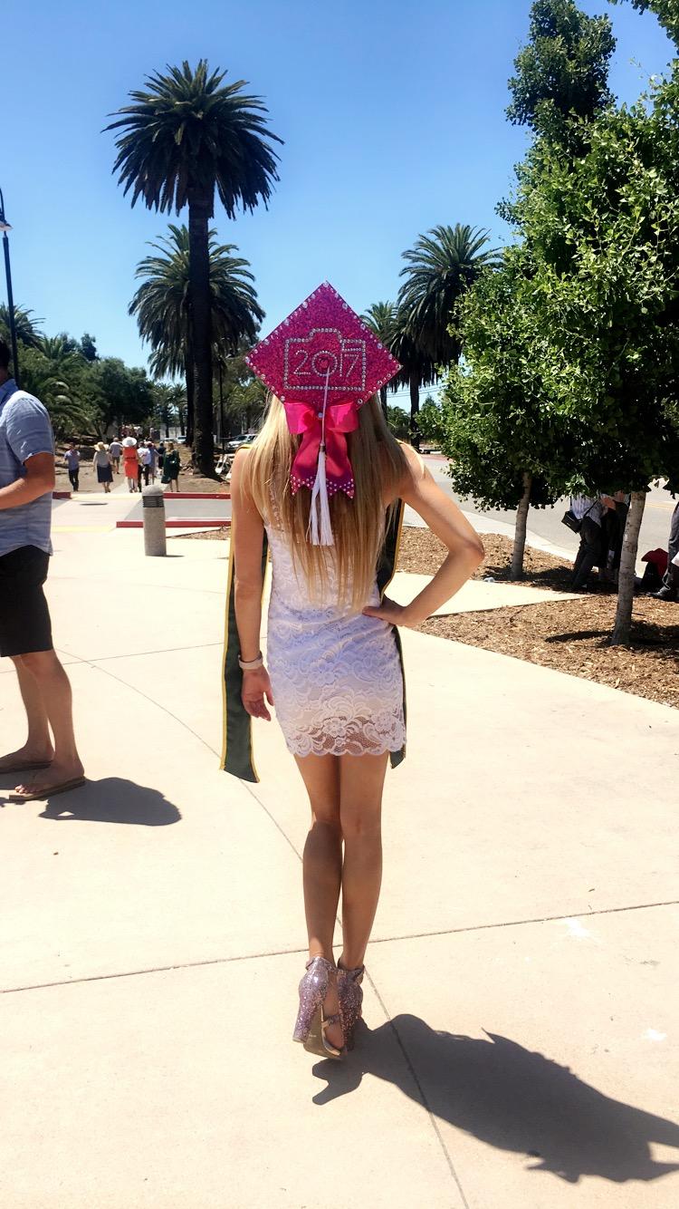 pink sparkle cap