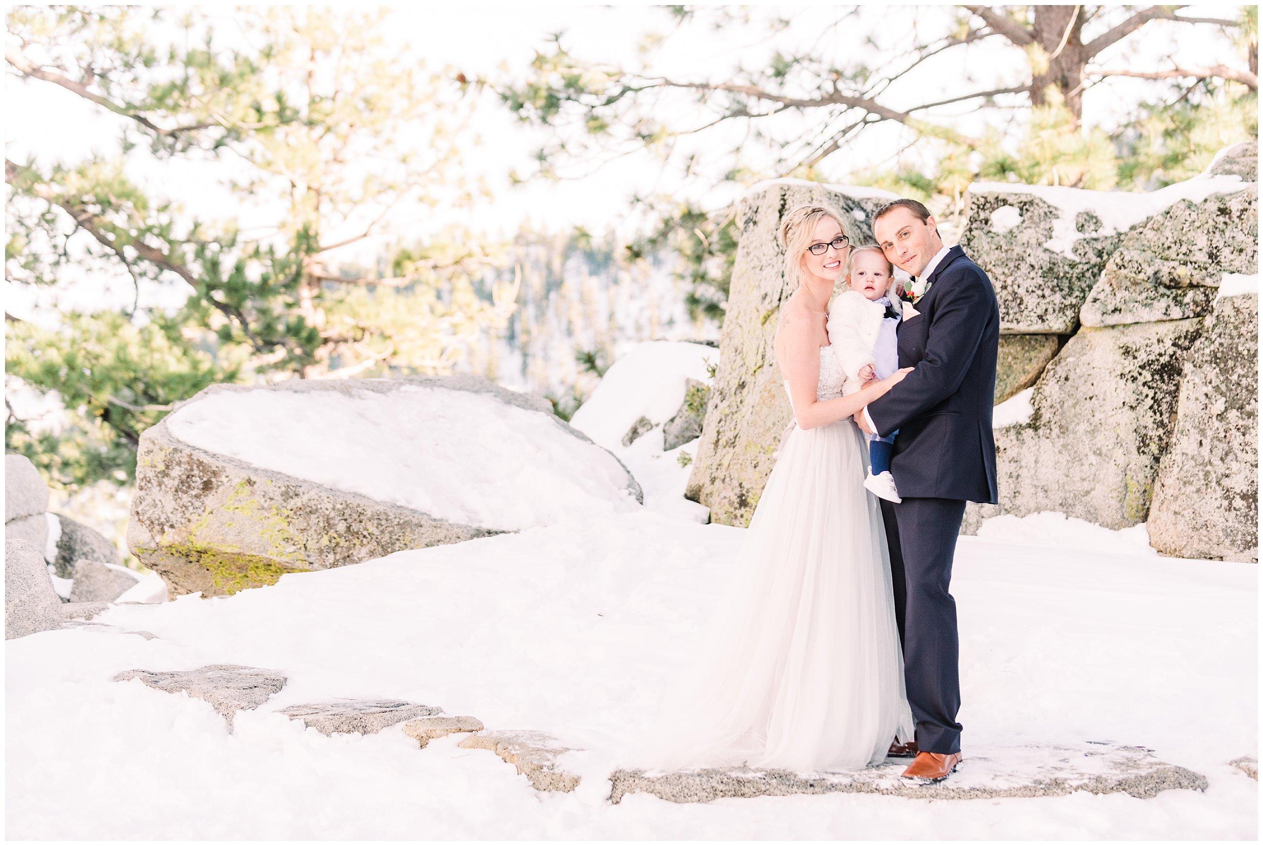 winter wedding portraits