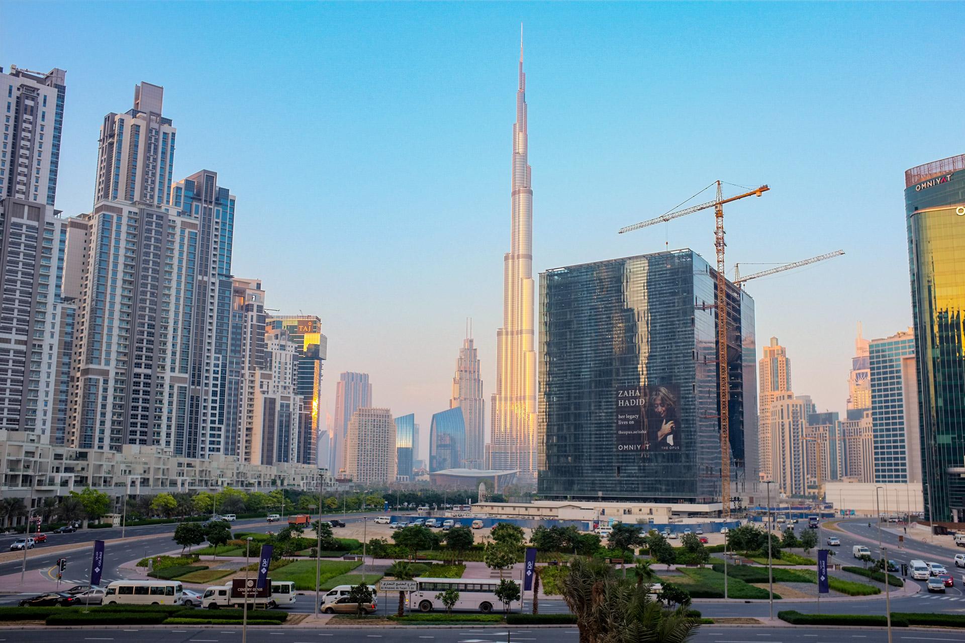 An Impressive view of Burj Khalifa and Downtown Dubai from The Oberoi.