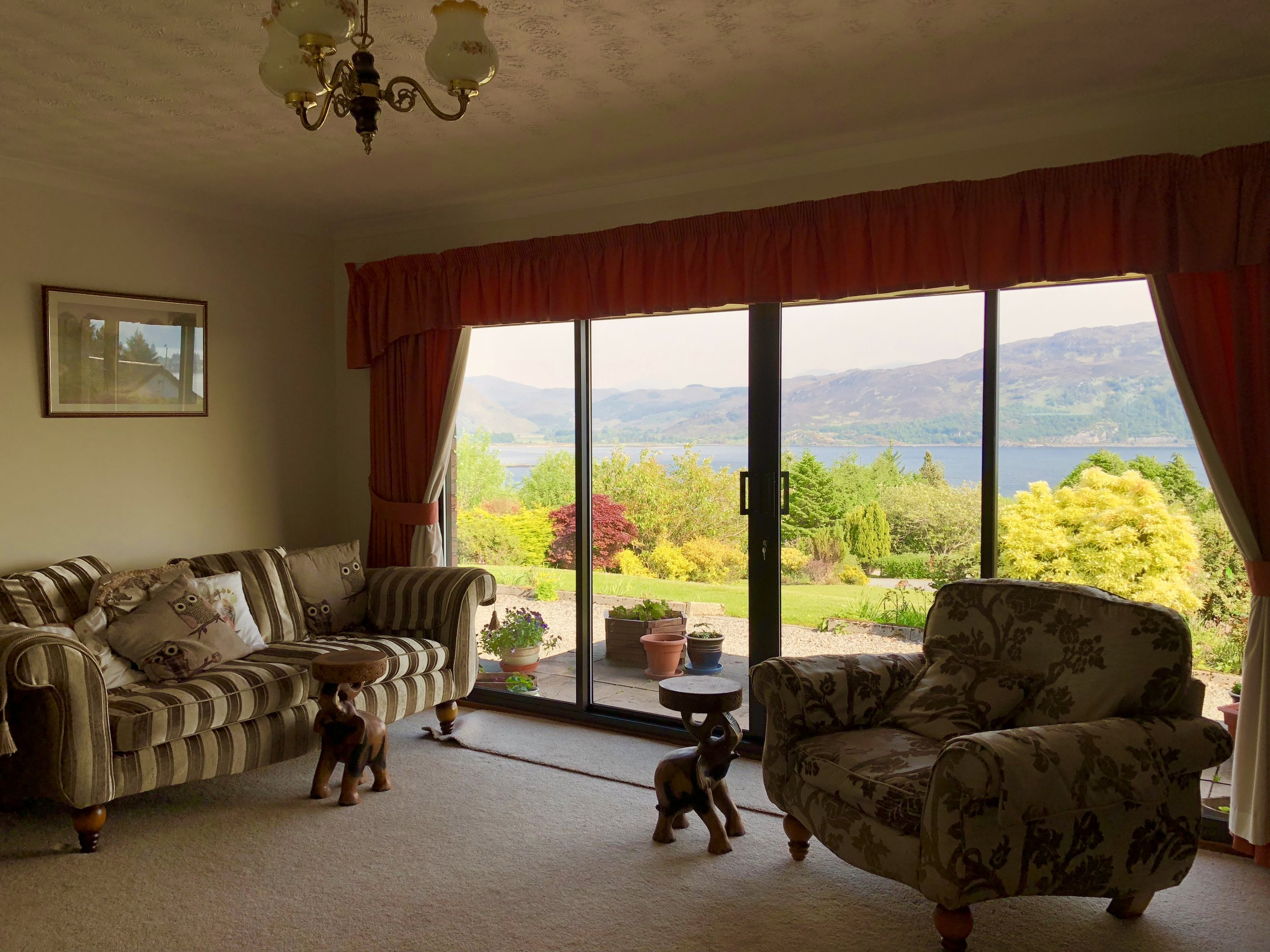 A view of Loch Carron from Chuillin Bed and Breakfast.