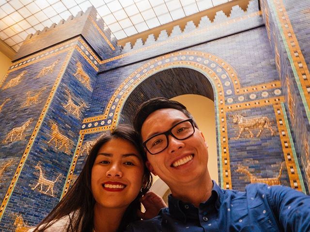Yesterday's Bible tour with @meanderbibletours at the @britishmuseum reminded us of our trip in Berlin where we saw what remains of the Ishtar Gate - part of Babylon's inner city constructed by order of King Nebuchadnezzar II. A reconstruction was made using its original bricks and you can find it here at Pergamon Museum... and it was one of the most amazing things we've ever seen! It's one of those moments when you travel and you can personally relate to things and places you see - it makes it more meaningful and memorable. . . . . . . . #nowthatsahoneymoon #heyitsthewongs #travelphoto #relationshipgoals #dametraveler #traveltogether #travelmore #visualsoflife #bestvacations #placesaroundearth #forbesttravelguide #travelguide #doyoutravel #travelguide #instatravel #fantastic_earth #travel #couplestravel #wanderlust #travelgoals #coupleswhotravel #berlin #germany #jw #meanderbibletours #jwtours #visitberlin #museumisland #pergamonmuseum #danielsprophecy