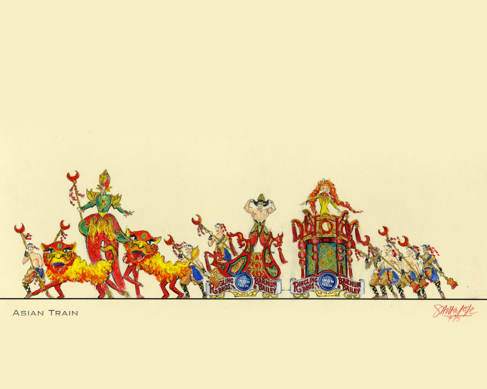 "Opening Number Circus Train Color Rendering ""Asian Unit"""