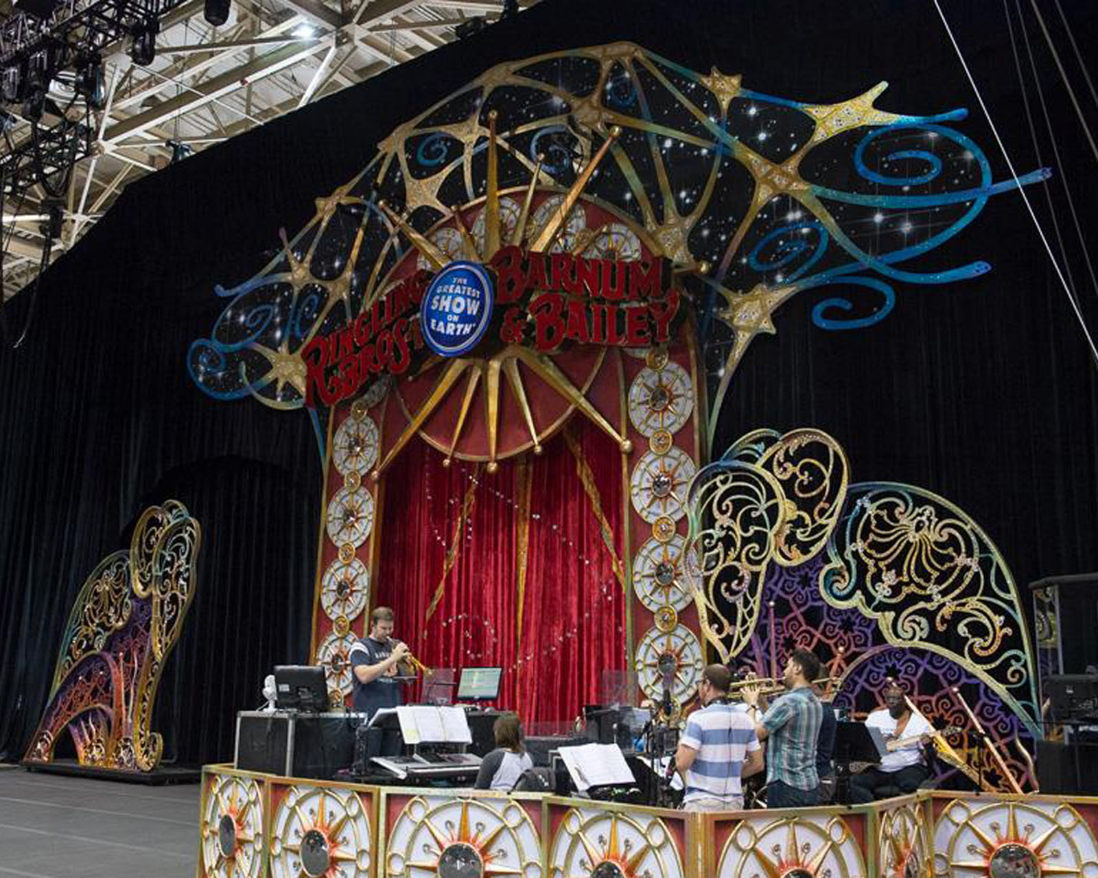 Rehearsal photo of the Portal and Elephant Gates from Tampa Fairgrounds.