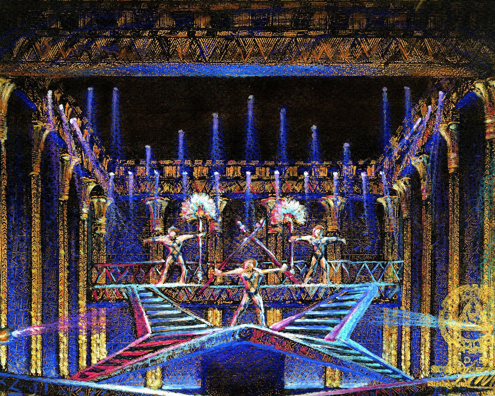Pyramid Color Concept Sketch for Broadway