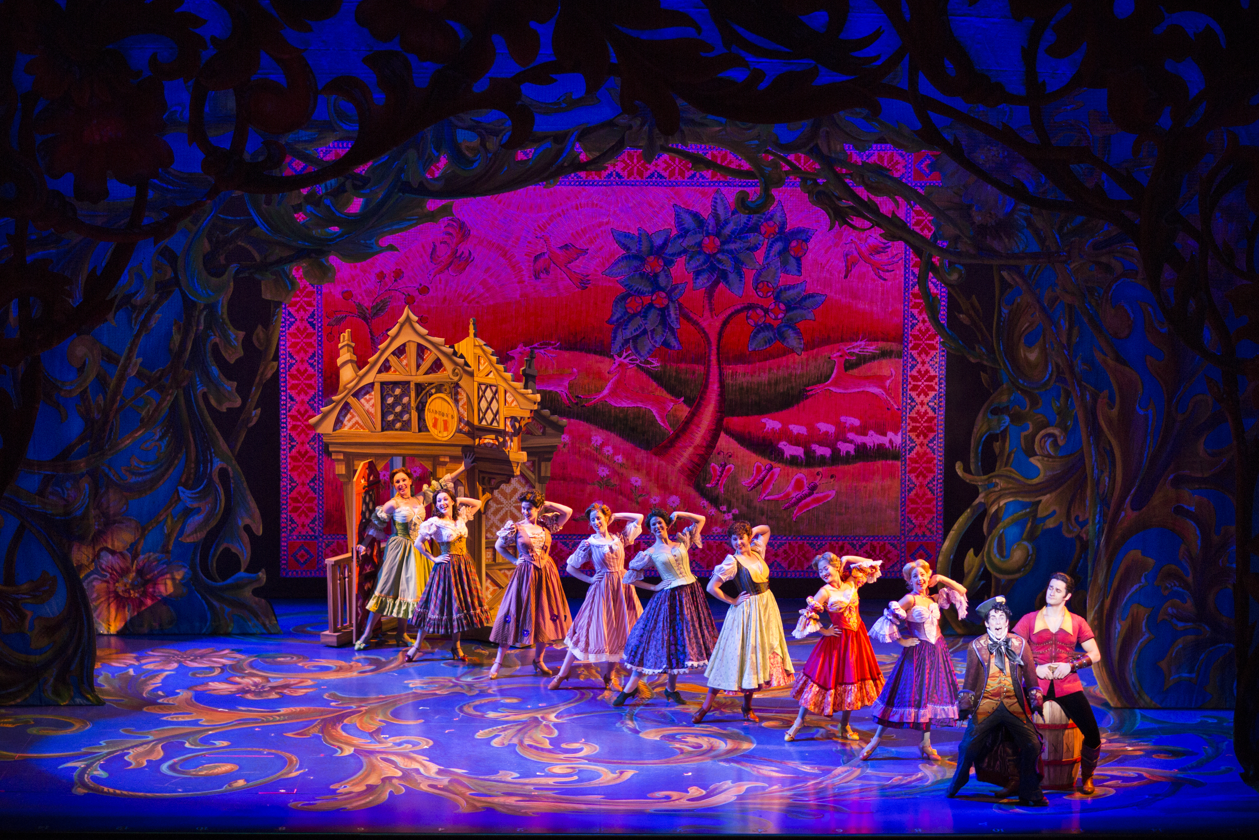 8. Disney's Beauty And The Beast- Outside the Tavern start of Gaston number-International Tour Produced by Networks Tours & Broadway Entertainment Group.jpg
