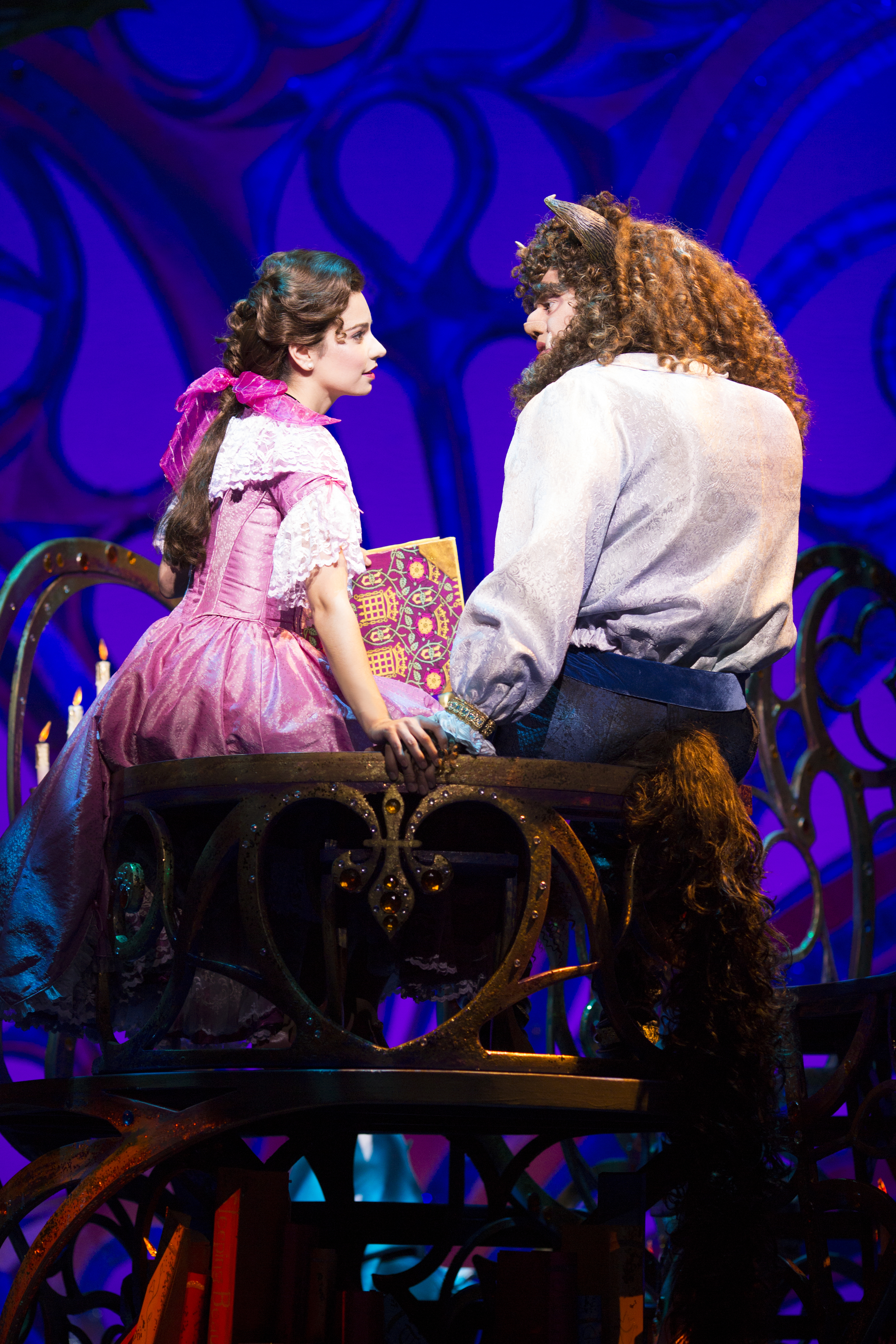 12. Disney's Beauty And The Beast- %22Belle and the Beast sitting in the library%22-International Tour Produced by Networks Tours & Broadway Entertainment Group.jpg