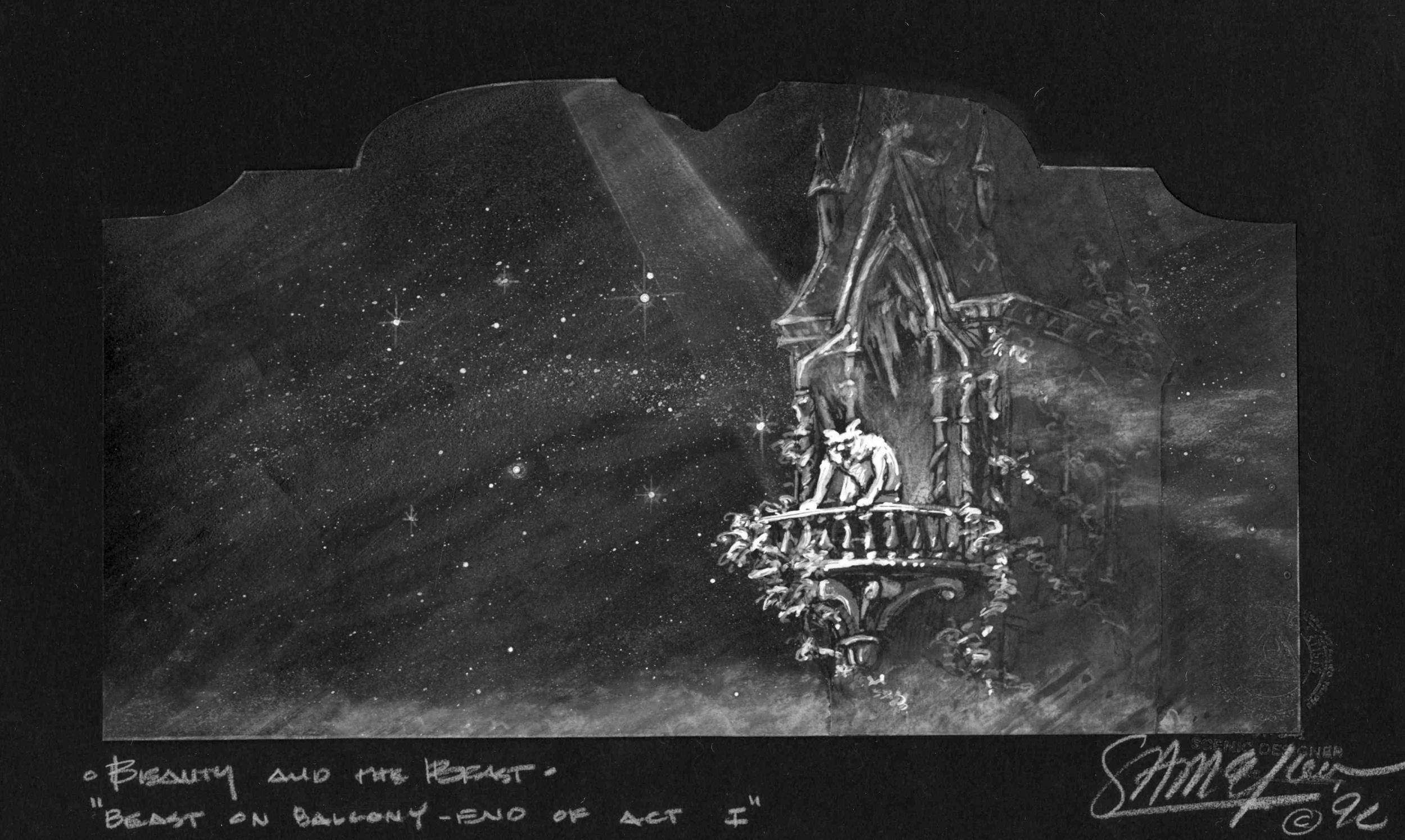 End of Act I.B&W Concept Rendering.Palace Theatre NYC.
