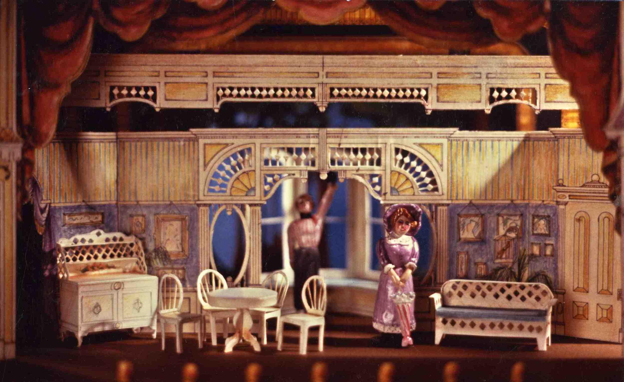 Scenic model of the Victorian Family Home Interior
