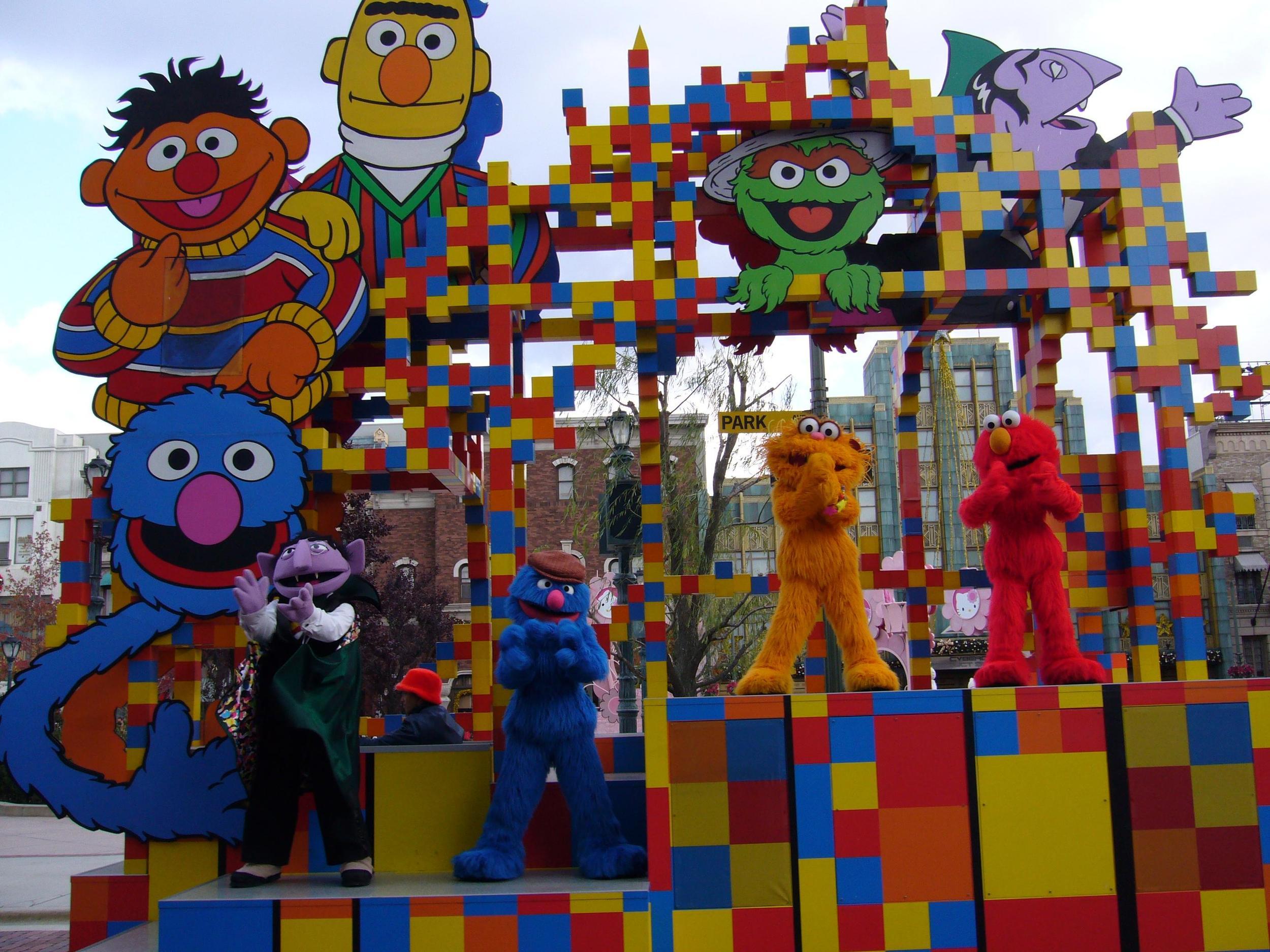 Sesame Street Float with Burt Ernie