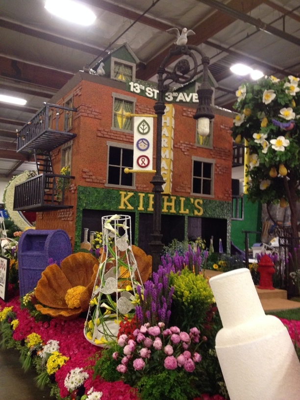 Finished float before the morning of the judging.